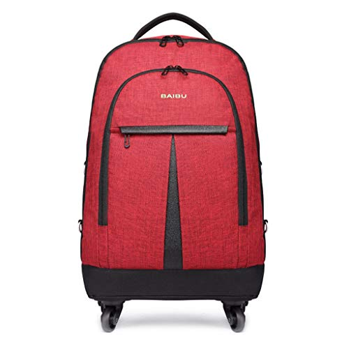 Wheeled Backpack Backpacks with Wheels Large Storage Wheeled Rolling Waterproof Travel Luggage for Boys Travelling School Backpacks with Laptop Compartments Unisex Holdall Wheeled Bags