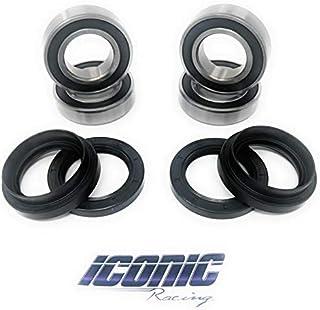 Iconic Racing Both Front Wheel Bearing and Seal Kits Compatible with Yamaha Bruin 350 Big Bear 350 Big Bear 400 2x4 4x4 19...