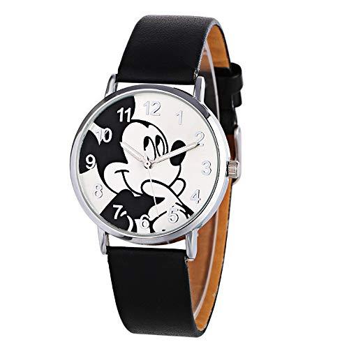 HWCOO Hermoso Relojes de Pulsera Reloj Mickey Mouse de Moda para Mujer Reloj de Dibujos Animados para Estudiantes (Color : 3)