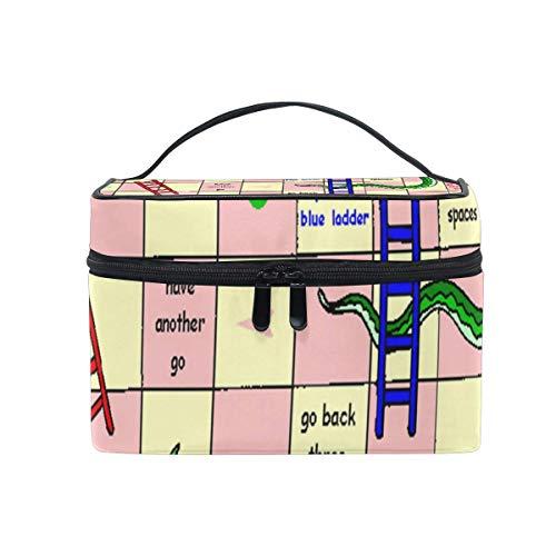 Sac de maquillage Pin Serpents Échelles Sac cosmétique Grand sac de toilette portable pour les femmes/filles Voyage