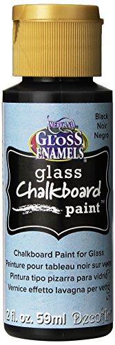 DecoArt Americana Gloss Enamels Chalkboard Carded Paint, 2-Ounce, Black Slate