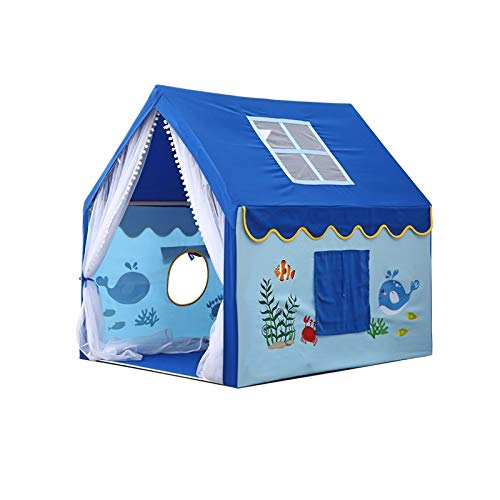 Tents Funny Play, Large Kids Playhouse - Teepee for Boys, Girls, Children Clubhouse 5 Styles - Bedroom Decoration (Color : C, Size : 100 * 126 * 120CM)
