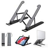 i-Found Soporte para ordenador portátil, portátil, plegable, de aluminio, soporte ergonómico para bandeja compatible con todos los portátiles y tabletas