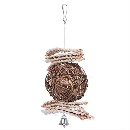 XYBB Ladder Vogelspeelgoed Voor Papegaaien En Huisdieren Perch Parakeet Cockatiel Kooi Decoratie benodigdheden Afrikaans Grijs, 15 * 24cm, 113