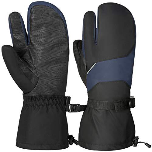 VBG VBIGER Winter Ski Mittens Waterproof Ski Gloves Warm Snow Snowboard Mittens Outdoors Cold Weather Mittens for Men Women (Medium, Grey)
