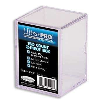 Ultra Pro 81147 2-Piece 150 Count Clear Card Storage Box