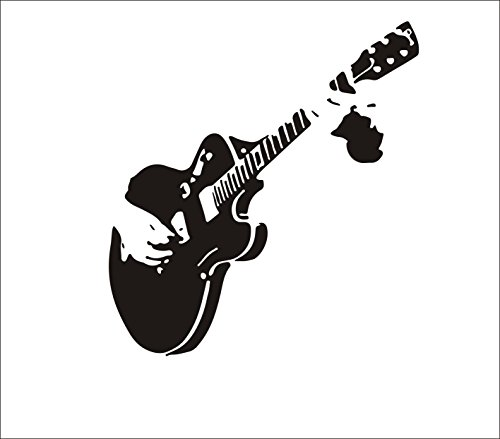 Home Find Guitar Music Art Murals DIY Removable Vinyl Wall Stickers Kids Room Decor Nursery Decals Stickers Wallpaper 21.7 inches x 23.2 inches