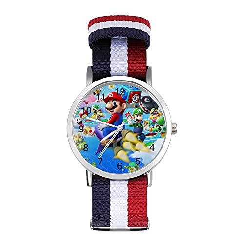 Los relojes Game Super Mario son impermeables, versátiles, informales, estudiantes, hombres, mujeres, deportes, moda y temperamento simple anime dibujos animados