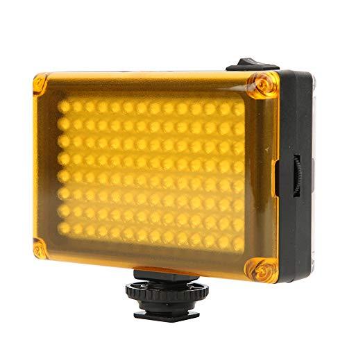 112 LED-videolamp, dimbaar invullicht LED-paneel op camera met koude schoenbevestiging, DSLR-camera Videovullicht voor bruiloft Facebook Living Stream