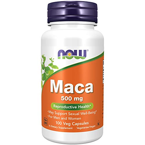 Now Foods Maca 500mg Standard - 100 Cápsulas