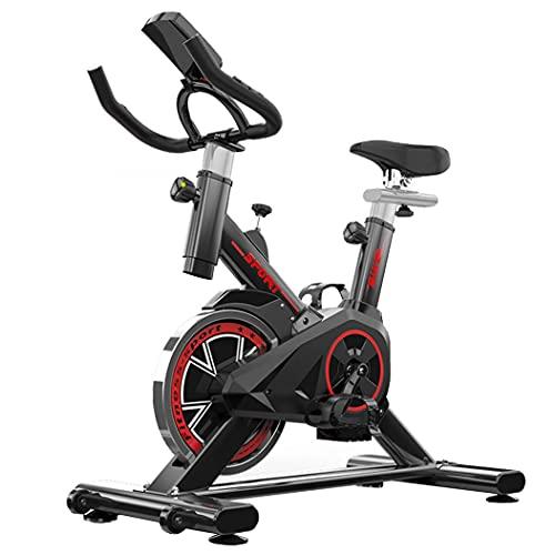 Fitplaco, cyclette da interni regolabile, per casa, palestra, ufficio, bicicletta con display LCD, cardiofrequenzimetro, capacità di 122,5 kg