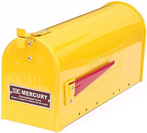 マーキュリー ポスト US EMBOSSED メールボックス 16.7×52.1×24.5cm マスタード ME048585