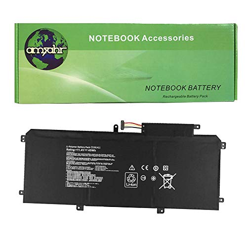 amsahr UX305-02 Ersatz Batterie für Asus UX305, U305F 33,8 cm (13,3 Zoll), U305FA (45Wh, 11.4V, 3-Cells) schwarz