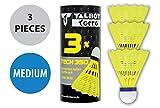 Talbot Torro Tech 350 Volante de Nylon Badminton, Unisex, Amarillo (Yellow)