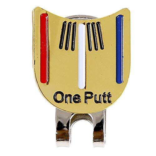 Ganquer Pelota Golf para Apuntar Rotulador Gorro Metal Adornado Desmontable Clip de Gorra de Golf Deportes Al Aire Libre Golf Accesorios - Oro