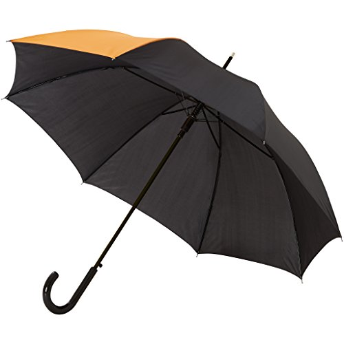 Bullet - Paraguas modelo Lucy de 58cm con apertura automática (83 x 102 cm) (Naranja/Negro)