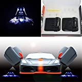 3D Wireless Magnetic Car Door Step LED Welcome Logo Shadow Ghost Light Laser Projector Lamp(Blue Horse) (Star Wars Darth Vader)