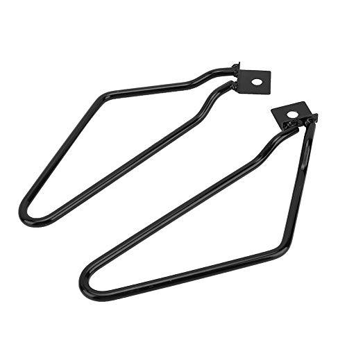 Soporte para bolsa de sillín de motocicleta, Bolsa de sillín de modificación universal para motocicleta Soporte lateral Portaequipajes Soporte negro para bolsa de viaje