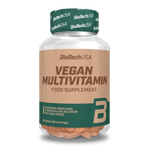 BioTechUSA Vegan Multivitamin, Suplemento dietético en forma de comprimidos que contienen vitaminas y minerales, 60 comprimidos