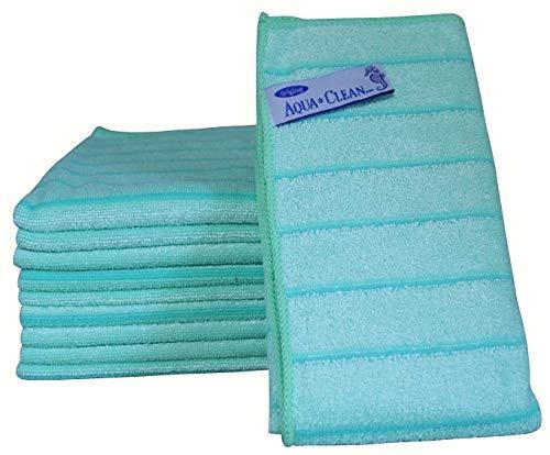 AQUA CLEAN Microfaser Reinigungstücher mit Kraftstreifen 10-tlg. (Grün)