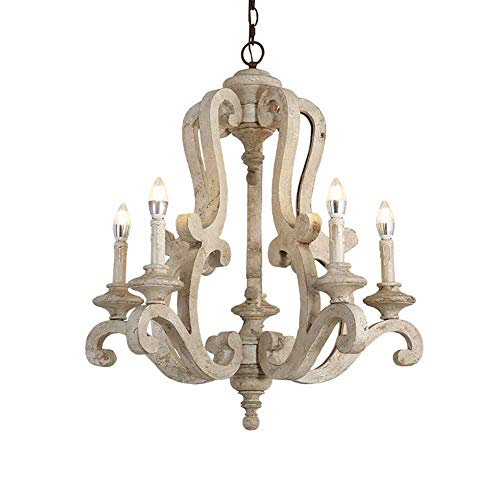 N/Z Home Equipment Stylish and Beautiful Chandelier American Country Retro Solid Wood Chandelier Creative Atmosphere Candle Lights Living Room Villa Hotel Living Room Restaurant Room Lamps Retro