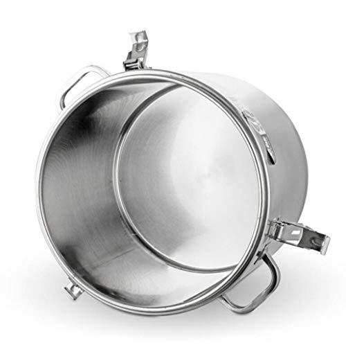 BLHZPD Edelstahl-Wärmeerhaltung Eimer mit großer Kapazität Wasserspeicher Eimern Hotelküche versiegelt Lagerung Eimer 10L, 20L, 30L, 40L, 50L, 60L, 70L (Color : Silver, Size : 30L)