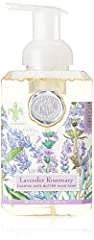 Luxurious foaming hand soap in an elegantly designed pump dispenser 17.8-Ounces of shea butter and aloe vera gently cleanse and moisturize, leaving skin soft and fresh Delightful lavender rosemary fragrance is softly sweet and soothing Beautifully pa...