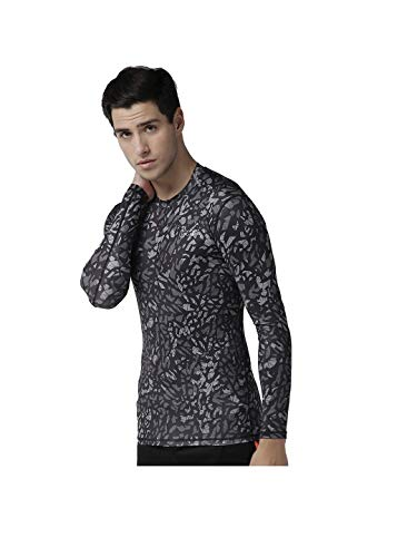 FITUP LIFE Men Full Sleeve Tshirt Polyester & Spandex Compression- Multicolor Printed {Size : L}