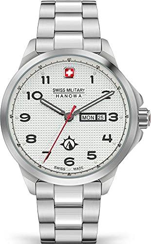 Swiss Military Hanowa Herren-Uhren Analog Quarz One Size Weiß 32017675