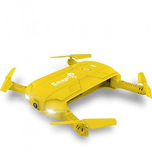 Twodots - Two dots snap the social drone cam hd 1mpx con giroscopio stabilizzatore a 6 assi colore giallo