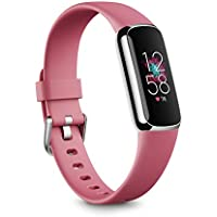 Fitbit Luxe Fitness and Wellness Tracker with Stress Management, Sleep Tracking and 24/7 Heart Rate, Orchid/Platinum Stainless Steel, One Size (Orchid)