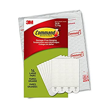 Command Picture Hanging Strips Holds 16 lbs 14 Pairs White PH206-14NA