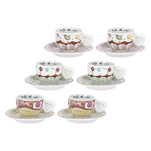 THUN-Set 6 tazzine caffè Sweetcake