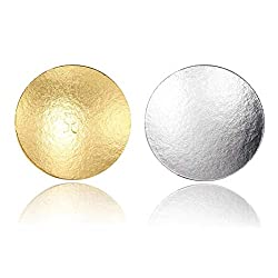 Miss Bakery's House® Cake Board - 3 mm - Ø 30 cm - Silver & Gold - 10 Pieces - Cake Stand