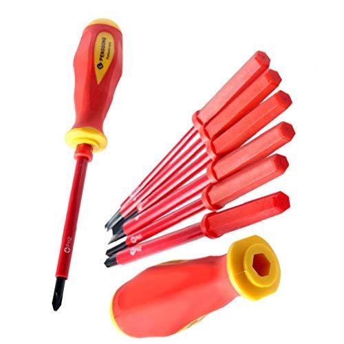 Destornillador Eléctrico Aislado Conjunto 1000v Phillips Destornillador De Precisión Electricista Repair Tool Kit 7pcs