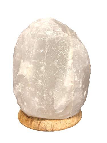Weiß HALIT Salzlampe Salzleuchte Naturform Inklusive Salzlampenfassung CE E14+ Glühbirne 15 Watt (2-3 Kg)