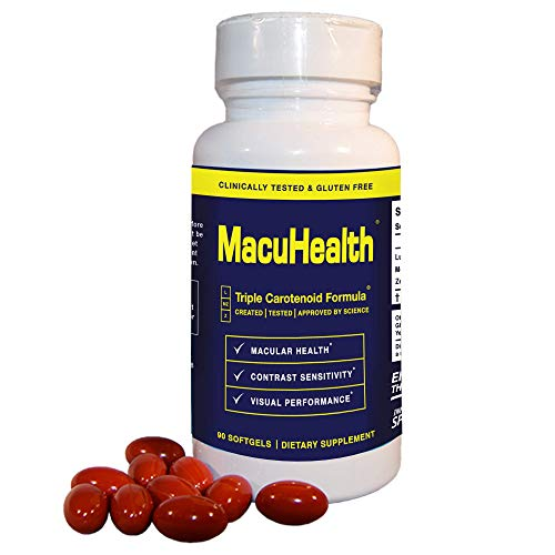 MacuHealth Eye Vitamins Supplement for Adults (90 Softgels, 3 Month Supply) Eye Formula with Lutein, Zeaxanthin, And Meso-Zeaxanthin   Protect Against Macular Degeneration