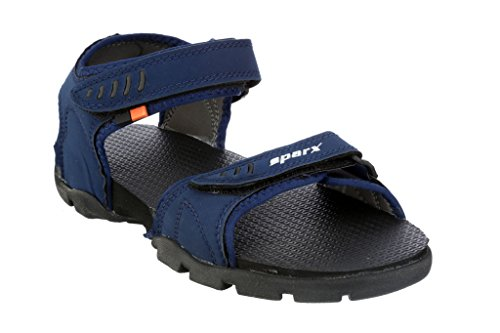 Sparx Men's Navy Blue Athletic and Outdoor Sandals - 10 UK/India(SS-101)