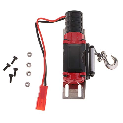 Homyl Automatische Stahlwinde Seilwinde Winde Zubehör für 1/10 D90 SCX10 TRX-4 RC Auto Crawler - Schwarz