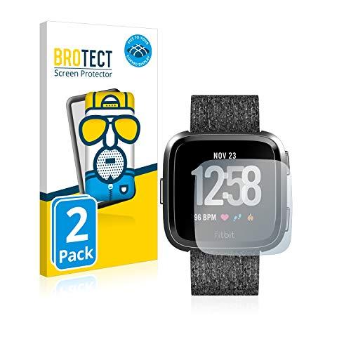 BROTECT Full-Cover Schutzfolie Matt kompatibel mit Fitbit Versa Special Edition (2 Stück) - Full-Screen Bildschirmschutz-Folie, 3D Curved, Anti-Reflex