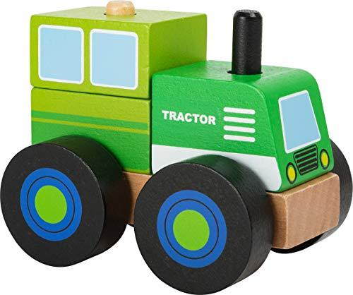 Small Foot 11073 Konstruktionsfahrzeug Traktor aus Holz, FSC 100{926748b49915ae4bbe14b944afee9a35b8e7637c1cced3648cb91ae53a544d6b}-Zertifiziert Spielzeug, Mehrfarbig