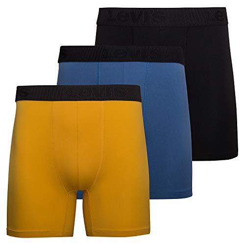 Levi's Herren Boxershorts - Stretch Unterwäsche für Männer 3er Pack - - Medium