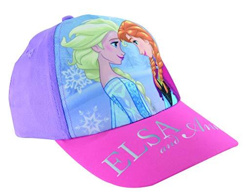 """Disney Frozen Die Eiskönigin Kinder-Cap Kappe Mütze Mädchen """"ELSA and Anna"""", größenverstellbar"""