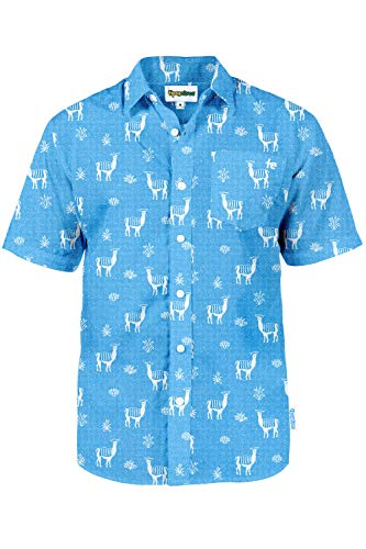 The No Drama Llama Hawaiian Shirt: Small