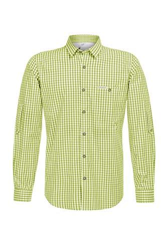 Stockerpoint Herren Hemd Campos3 Trachtenhemd, Grün (Apfel Apfel), Small (Herstellergröße: S)