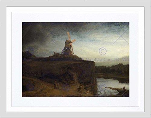 Wee Blue Coo Rembrandt Nederlandse molen kunst beeld ingelijst muur Art Print