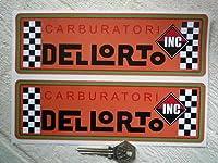 Carburatori Dellorto Sticker デロルト ロゴ ステッカー シール デカール 海外限定 205mm x 65mm 2枚セット [並行輸入品]