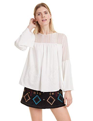 Desigual Damen Ivana T-Shirt, Weiß (Cream 1011), Small (Herstellergröße: S)