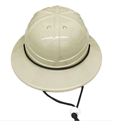 GiftExpress Kids' Hard Plastic Safari Pith Helmet (Gray Tan)