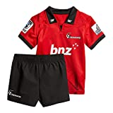 Maillot de Rugby pour Enfants, Highlanders/Croisés/ouragan/Chef/Blues/Tout Noir/Irlande/Angleterre/Tonga Rugby Polo Shirt Training T-Shirt, Supporter Football Sport Top-Crusaders-XL